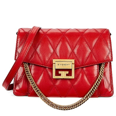 Givenchy GV3 small red quilted leather cross-body bag