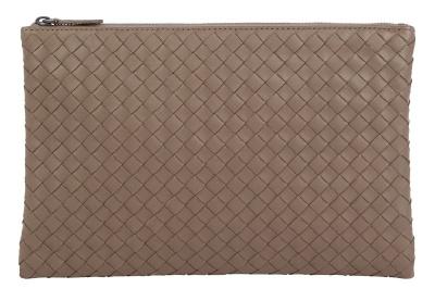 Bottega Veneta Leather Intrecciato Pouch Bag