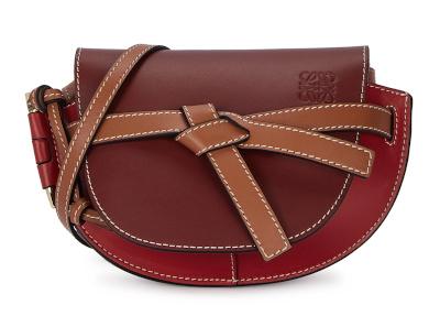 LOEWE Gate Mini Leather Saddle Bag