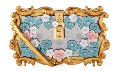 Dolce & Gabbana Floral Padlock Clutch