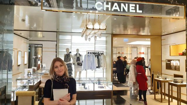 Ingrid Visiting Chanel in London