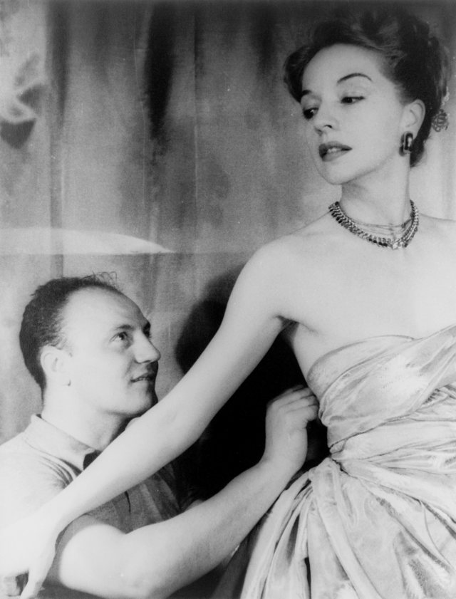 Pierre Balmain and Ruth Ford