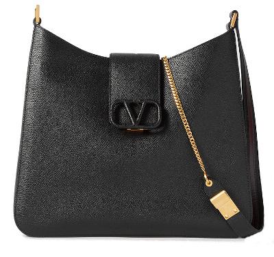 Valentino Garavani VSLING Textured-Leather Shoulder Bag