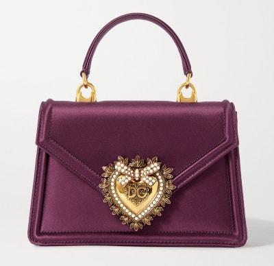 DOLCE & GABBANA Devotion Embellished Satin Tote Bag