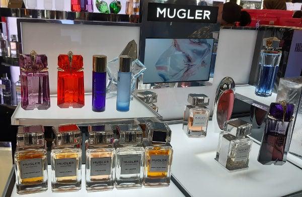 Harrods had lots of Mugler Perfumes To Experience