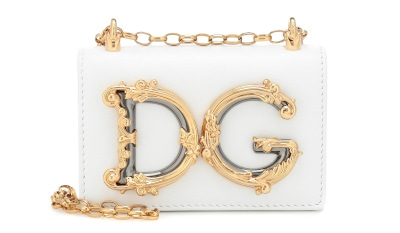 DG Girls Leather Shoulder Bag