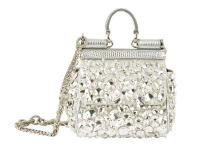 DOLCE & GABBANA Nano Embellished Sicily Bag