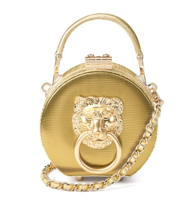 Aspinal of London Micro Gold Hat Box Bag