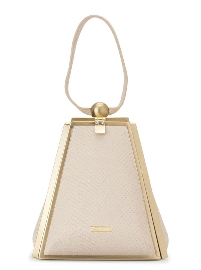 Cult Gaia Trina Snake-Effect Leather Tote
