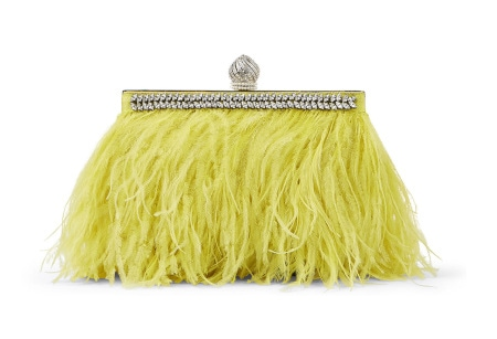 Jimmy Choo Celeste Feather and Crystal Clutch