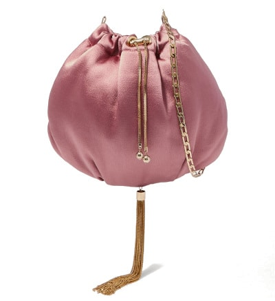 Rosantica Fatale Tasseled Satin Shoulder Bag