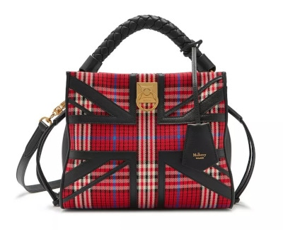 Small Iris Scarlet Tartan Check Canvas Bag