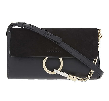 Faye Leather and Suede Clutch - Chloe