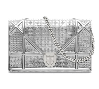 Diorama Metallic Calfskin Pouch - Dior
