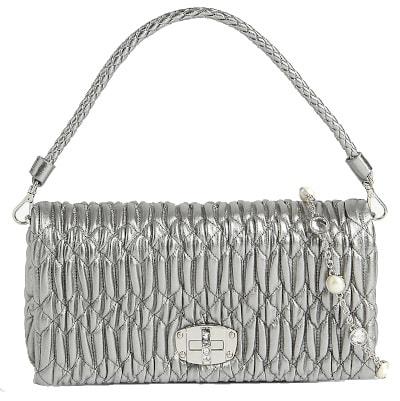 Matalasse Leather Cross-Body Bag - Miu Miu