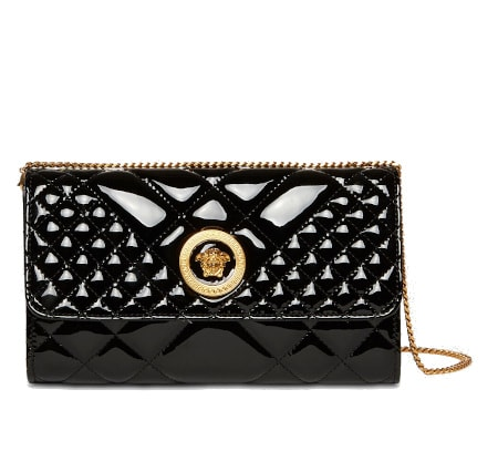 Icon Patent Leather Quilted Bag - Versace