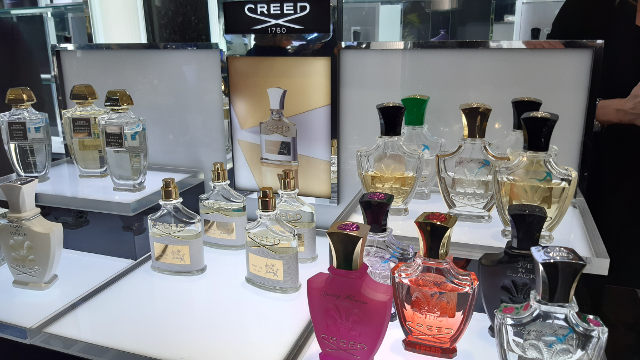 Our visit to the Creed perfume counter in Harrods