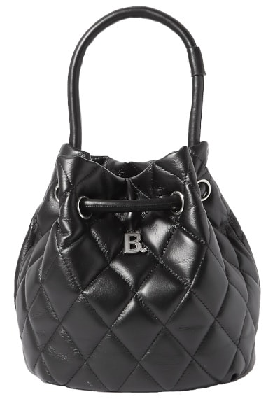 B Dot Quilted Leather Bucket Bag