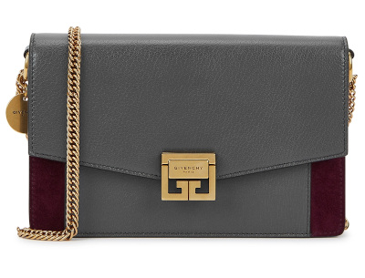 GV3 Leather & Suede Chain Wallet - GIVENCHY