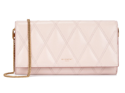 GV3 Pink Leather Chain Wallet - GIVENCHY