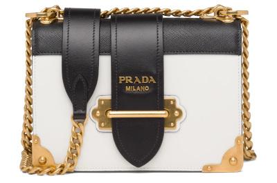 Prada - Leather Cahier Shoulder Bag
