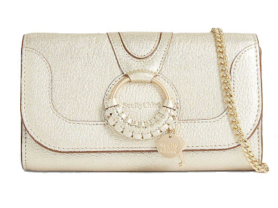 Hana Metallic Leather Chain Wallet - SEE BY CHLOE