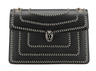 Serpenti Forever Black Shoulder Bag
