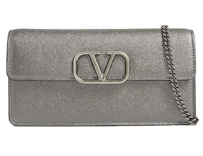 VSLING Metallic Leather Chain Wallet - Valentino