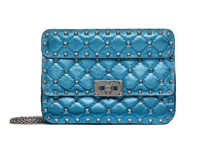 Valentino - Small Metallic Rockstud Spike Bag