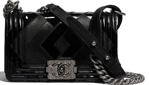 Black & Ruthenium-Finish Metal Chanel Boy Bag