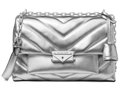 Cece Metallic Leather Convertible Shoulder Bag
