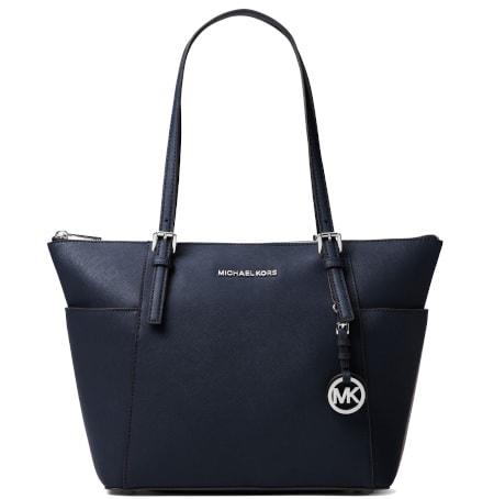 Jet Set Saffiano Leather Top-Zip Tote Bag