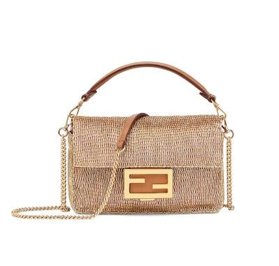 Baguette Brown Leather Bag