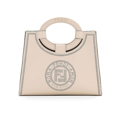 Runaway Small Perforated Leather Tote