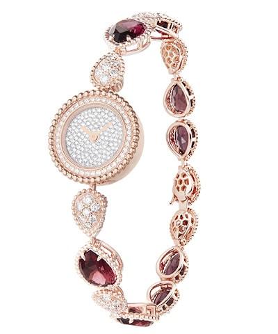 Serpent Bohème Pink Gold Diamond Watch