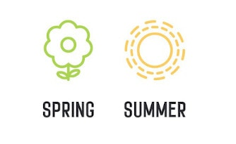 Seasons: Spring, Summer