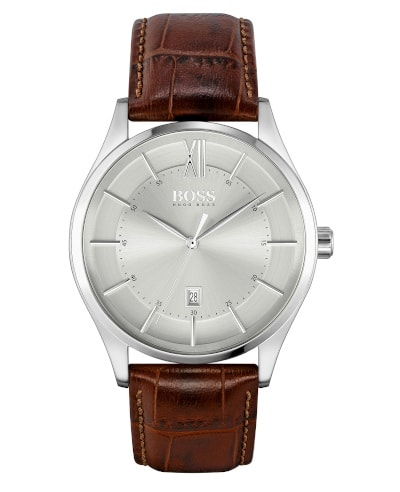BOSS Distinction Brown Leather Strap Watch