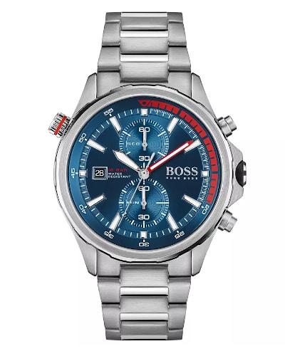 BOSS Globetrotter Stainless-Steel Watch