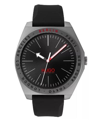 HUGO Act Matte-Grey-Plated Watch