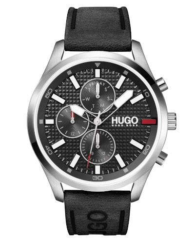 HUGO Chase Knurling-Dial Watch