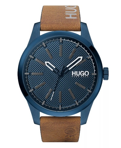 HUGO Invent Blue-Plated Watch
