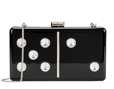 KATE SPADE Domino Crystal-Embellished Box Clutch