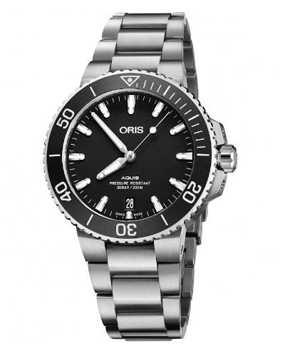 Oris Aquis Date Black Dial Steel