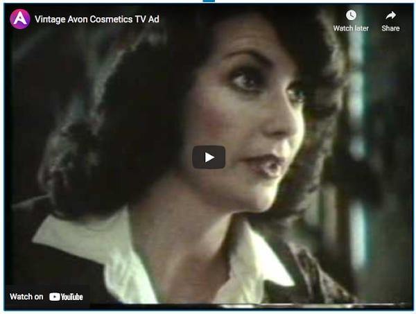 Avon original vintage video on youtube