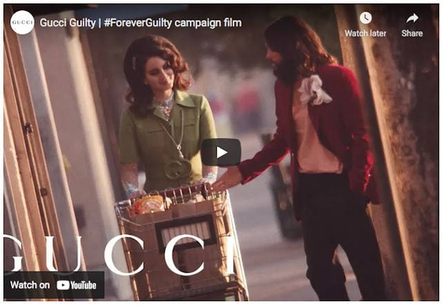 Gucci Guilty Official Promo on Youtube.