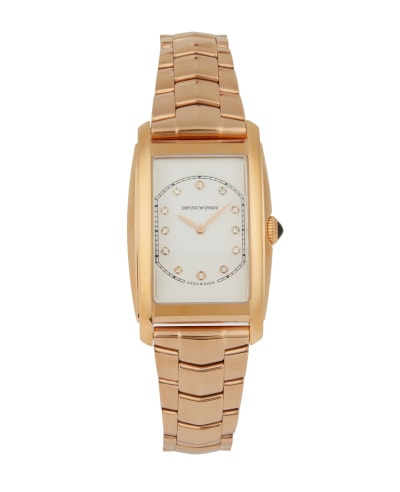 Emporio Armani Swiss Rectangle Diamond Watch
