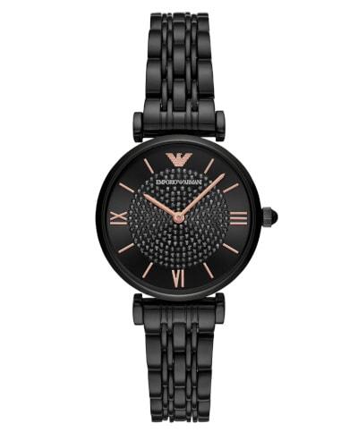 Armani Gianni T-Bar Watch Black