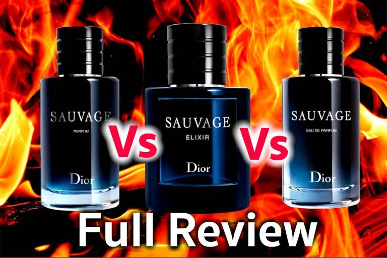 Dior Sauvage Elixir vs Parfum vs EDP