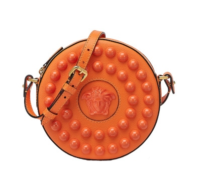 Versace La Medusa Studded Round Camera Bag
