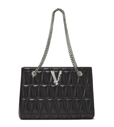 Versace Virtus Quilted Small Tote Bag